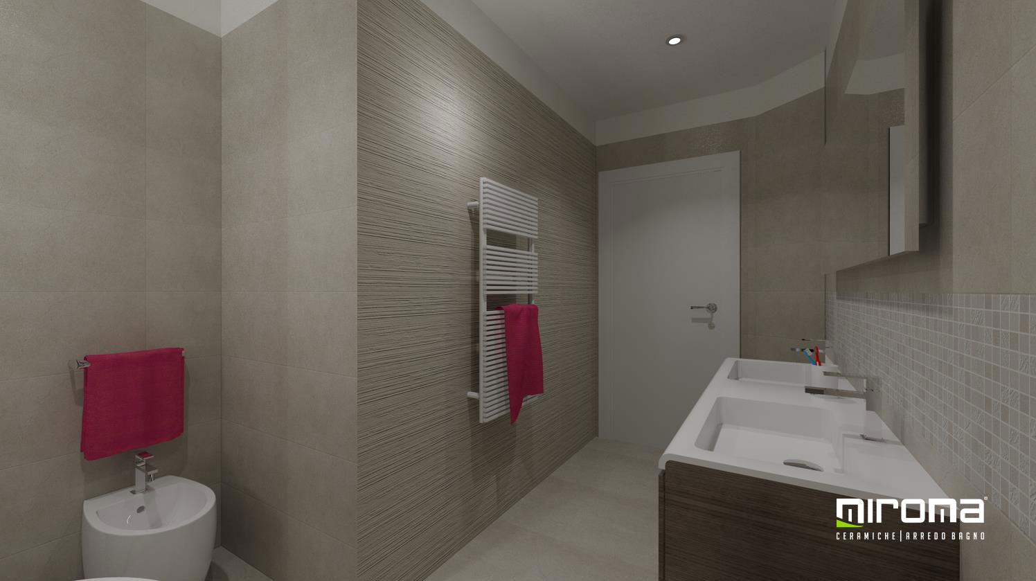 Progetto bagno pavimento e rivestimento fap ceramiche - Arredo bagno caserta ...