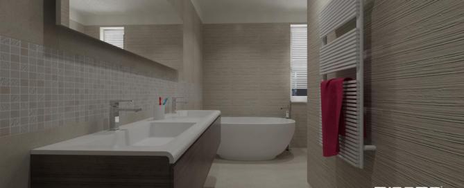Progetti miroma ceramiche - Pavimento e rivestimento bagno uguale ...