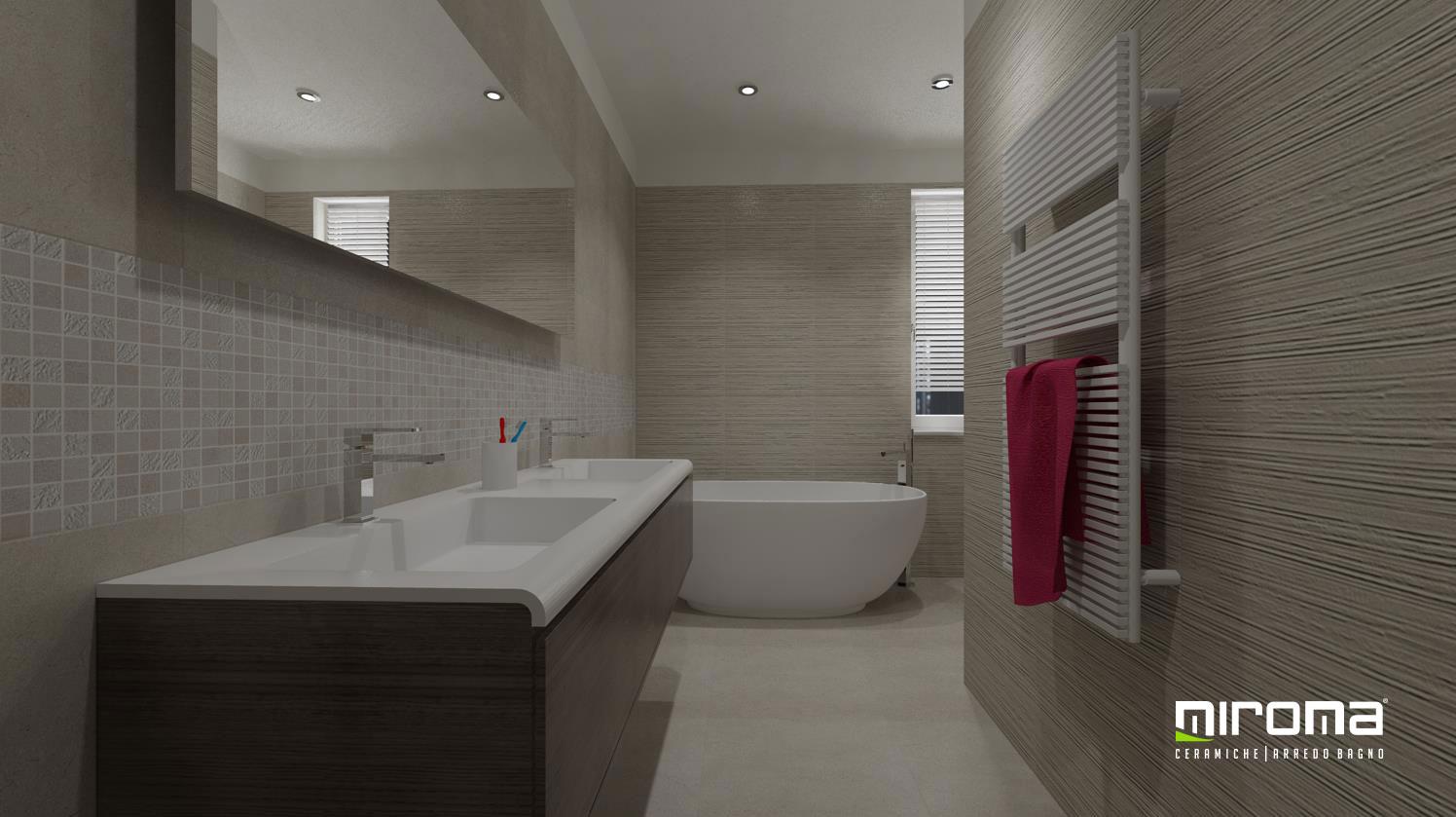 Progetto bagno pavimento e rivestimento fap ceramiche miroma ceramiche - Pavimento e rivestimento bagno uguale ...