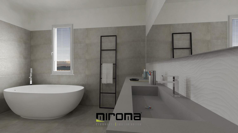 Amato Progetto bagno moderno - Miroma Ceramiche HT72