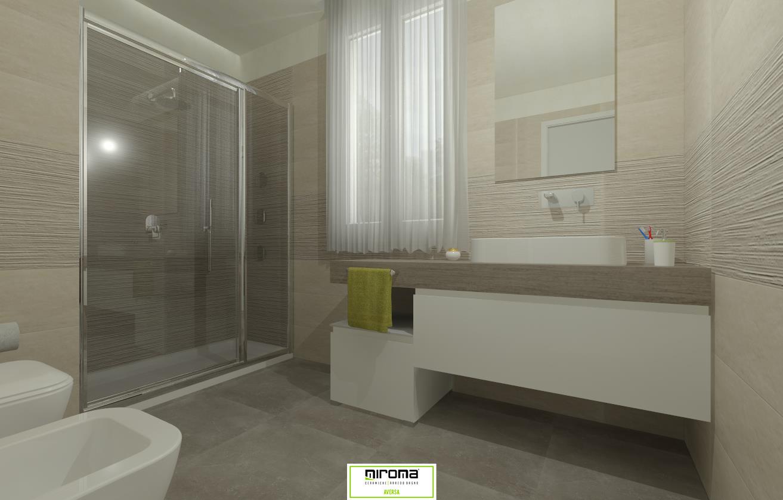 Progetto bagno pavimento e rivestimento fap ceramiche miroma