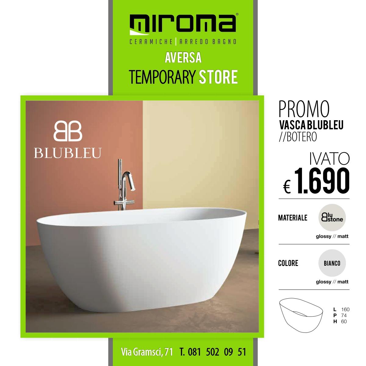 Vasca Da Bagno Blubleu Botero Miroma Ceramiche